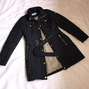 Michael Kors • black quilted coat